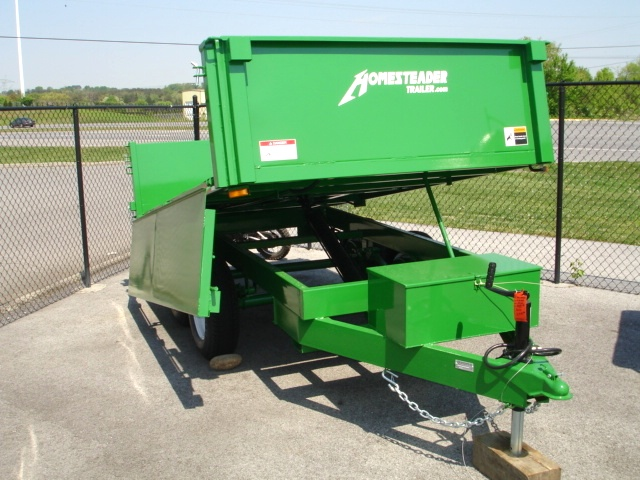 6 X 10  Homesteader Dump Trailer  Drop Down Side Trailers For Sale