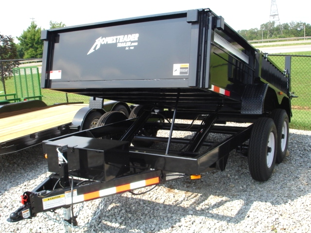 7X12 HX Homesteader Dump Trailer includes a Pair of 6'Ramps Trailers For Sale