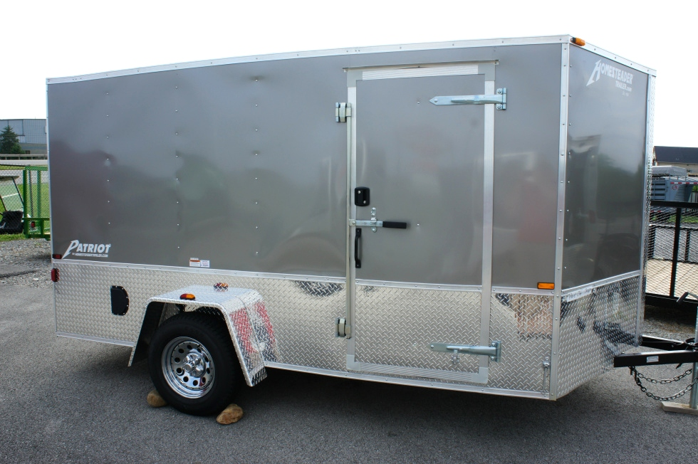 7 X 12 Homesteader Enclosed Custom Trailer With Bike Pkg Trailers For Sale