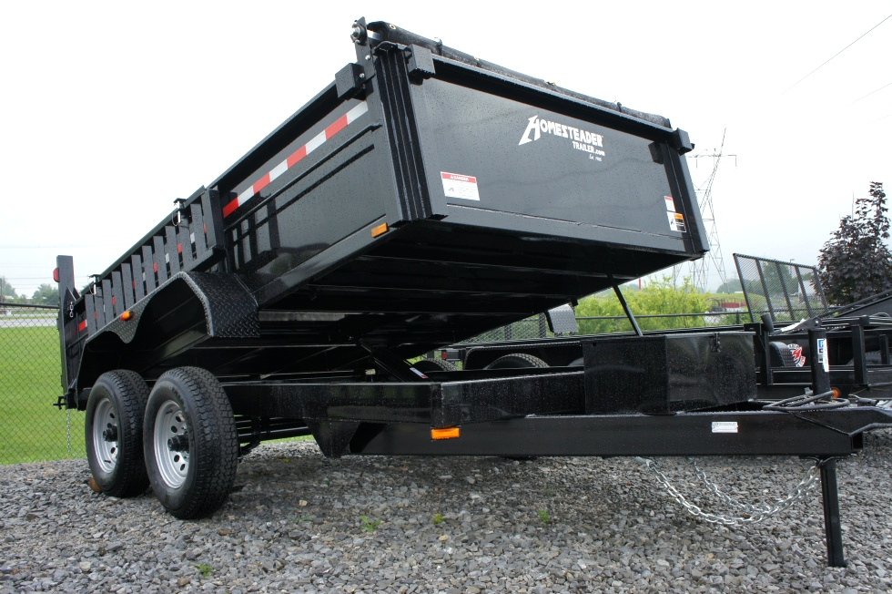 Dump Trailer 7 X 12 Equipment Hauling Pkg Trailers For Sale