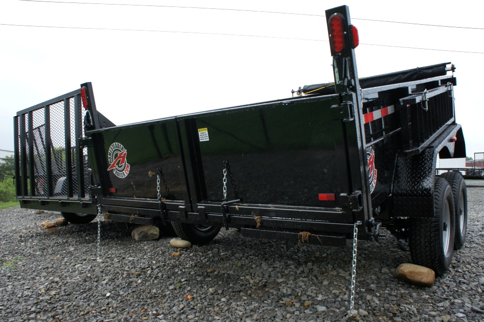 Dump Trailer 7 X 12 Equipment Hauling Pkg Trailers For Sale