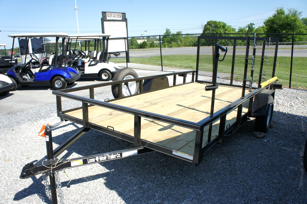 7 X 12 Single Axle Lone Wolf Landscape Trailer Trailers For Sale