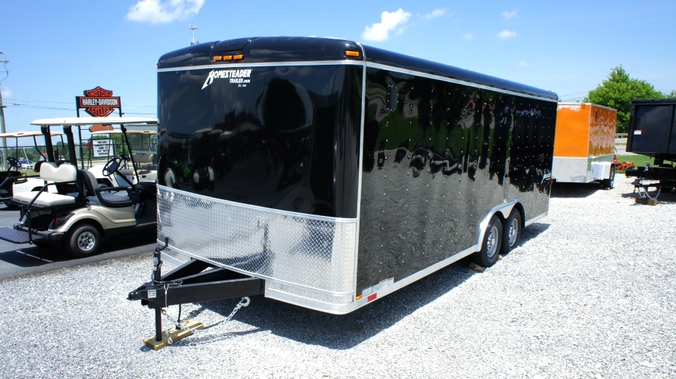 8.5 X 20  Wide Hercules Homesteader Enclosed Equipment Trailer In Stock Ready to Go Trailers For Sale